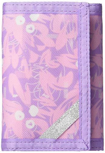 PUMA unisex child Puma Kids' Rise Trifold Wallet, Purple/Pink, One Size US