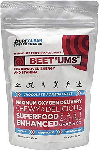BEET'Ums-Beet Powered Performance Chews Endurance Supplement, Delicious Chocolate Fudge, Convenient Grab and Go, Supports Stamina, Energy and Performance, Replace or Combine Use with Beet Root Powder