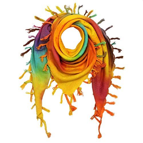Freak Scene Kufiya - Keffiyeh - Multicolor-batik 09-100x100 cm - Pañuelo palestino de Arafat - PLO Pali chal - 100% algodón