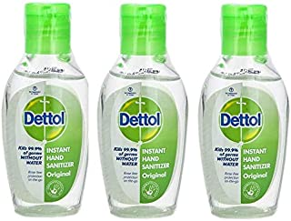 Gel Hidroalcoholico Manos Dettol | Gel antiseptico manos que limina el 99,9% de las bacterias y virus | 3 x 50ml