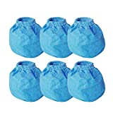 Smilefil VRC2 Cloth Filter Replacements for Vacmaster 1.5 to 3.2 Gallon Wet/Dry Vacuums, 6 Pack