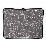 Standard Lustige Mathe Grau Laptoptaschen Neuheit Erweiterbar - Weiße Kreide Laptoptasche Geeignet für Schule White 13 Zoll