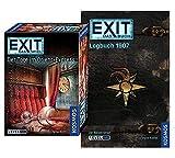 """EXIT – Das libro – Logbuch 1907 Libro in brossura + Kosmos Spiele 694029 Gioco di carte """"Tote im Orient-Express"""", Escape Room Spiel per casa Level Profi"""