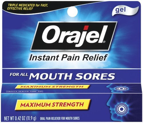 Orajel Orajel Mouth Sore Pain Relief Gel, 0.42 oz (Pack of 2)