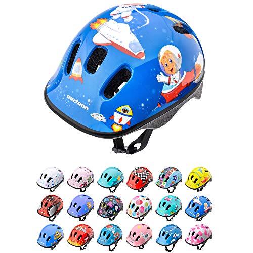 meteor Casco Bici ideale per bambini Caschi perfetto per Downhill Enduro Ciclismo MTB Scooter Helmet Ideale per Tutte Le Forme di attività in Bicicletta Helmo (XS 44-48 cm, space)