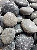 Der Naturstein Garten 5 kg polierte Kieselsteine 2,5-5 cm - Glanzkies Hot Stone Dekosteine Flusskiesel - Lieferung KOSTENLOS - 2