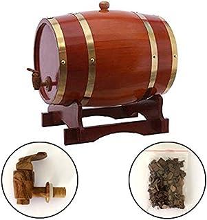 Cubo de vino con dispensador de barril de whisky de roble de 5 l para decoración de bar y vino, para guardar vinos y bebidas alcohólicas y chocolate con whisky