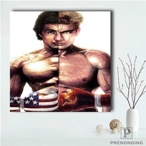 No frame Aangepaste Sylvester_Stallone () Poster afdrukken Posters doek stof Wall Art voor woonkamer Decor 50 x 50 cm