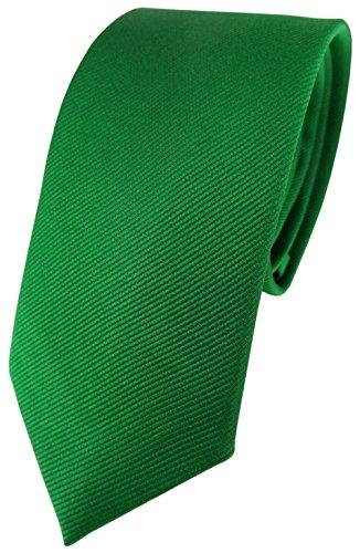 TigerTie corbata de seda estrecha - verde monocromo rips struktur