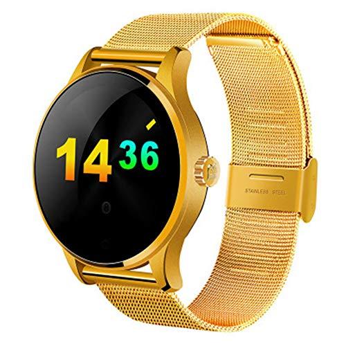 LXZ Reloj Inteligente K88H 1,22 Pulgadas IPS Monitor De Pantalla Soportes Redondos Frecuencia Cardíaca De Ejercicio De La Aptitud De Bluetooth Reloj Inteligente Multi-Deporte A Prueba De Agua,E