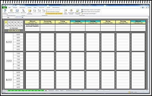 Digitaler PC Excel Terminplaner Terminkalender Terminbuch für Ärzte Friseure, Kosmetikstudio Pilates Yoga Fitnessstudio Nagelstudio Sonnenstudio Friseursalon KFZ Werkstatt (2.Version gratis dazu)
