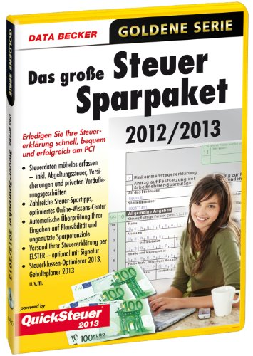 Data Becker Steuer Spar Paket 2012 2013 Software De Análisis Financiero Windows 8 7 Sp1 Vista Sp2 Xp Sp3 1024 X 768 0 8 Gb