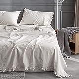 Best Linen Sheets - Simple&Opulence Belgian Linen Sheet Set with Ruffles Review