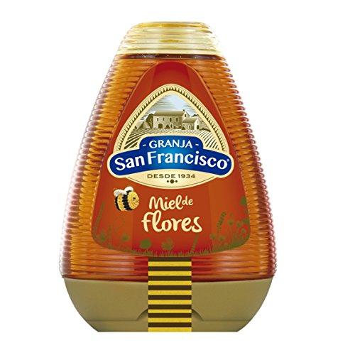 Granja San Francisco - Miel de Milflores - 0{208fdd066f208f67657e8bfa3ac3a51cf001b7c1cddc7851586397e17961c6ee} Goteo - 425 g - [pack de 5]