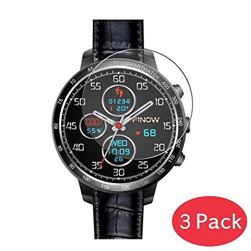 VacFun 3 Piezas Vidrio Templado Protector de Pantalla Compatible con FINOW Q7 Smartwatch Smart Watch, 9H Cristal Screen Protector Película Protectora Reloj Inteligente