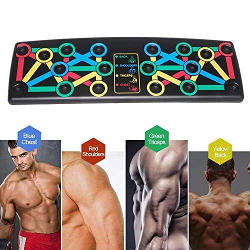 Diafrican Tabla de Flexiones Plegable, 14 en 1, Multifuncional, Soporte de flexión Corporal, Herramientas de Entrenamiento Muscular y de Fuerza para Hombres y Mujeres, Entrenamiento en casa y Fitness