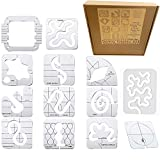 Windman 13Pcs Quilting Templates for Machine Quilting Includes 12Pcs Free Motion Quilt Templates and 1 Pcs Quilting Rulers Grip Guide for Domestic Sewing Machines