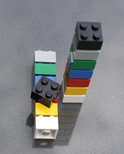 FLUX Objects Magnet-Bausteine für Pinnwand, Magnettafel oder Kühlschrank/Lern-Magnete, Neodym-Magnete, bunt, 14 Stück