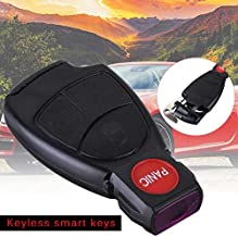 Key Case for Car Remote Keyless Smart Key For Mercedes Benz Fob Case Shell With Battery Holder Key Battery Clip Car Safety Accessory