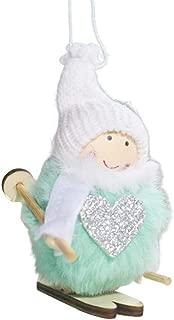 Christmas Pendant Plush Skiing Doll Toy Doll Ornament Gift for Kids Stuffed Animal Figure Christmas Decorations