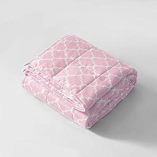 N / A Gewichtsdecke,Premium Material 100% Baumwolle - Autism Sensory Heavy Weight Blanket für den Schlaf, reduziert Angstzustände, Schlaflosigkeit,Pink,122  183cm-4.5kg