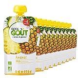 Good Goût - BIO - Gourde de Purée de Fruits à l'Ananas dès 4 Mois 120 g - Pack de...