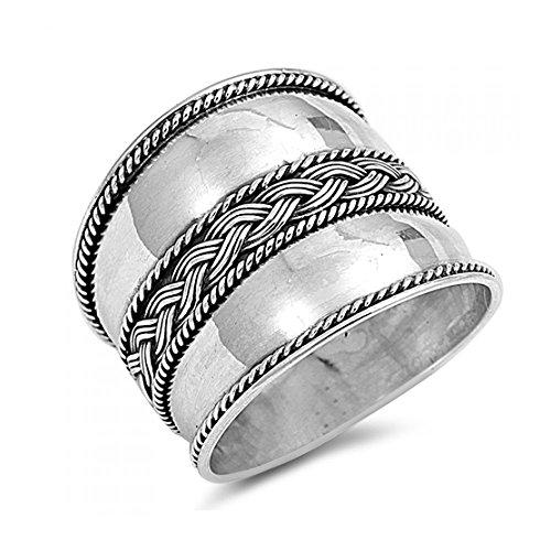 Sterlingsilber Bali Design Ring