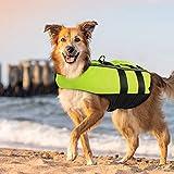 PETLESO 犬ライフジャケット 救命胴衣 空気バッグ式犬ライフジャケット ペット水泳補助具 サイズ調節可能、用 Lサイズ