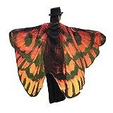 Andouy Damen Faschingkostüme Flügel Schal Tuch Erwachsene Poncho Umhang für Party Weihnachten Cosplay Karneval(197X125CM.Kaffee)