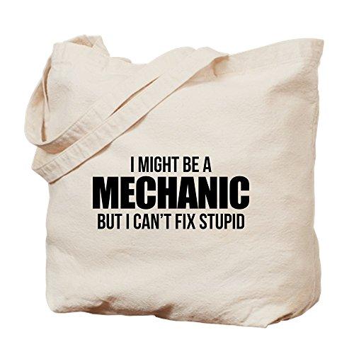 CafePress Tragetasche I Might Be A Mechanic But I Can't Fix STU, Canvas, Khaki, M