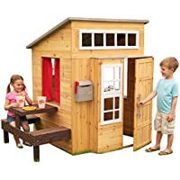 KidKraft Modern Outdoor Wooden Playhouse with Picnic Table