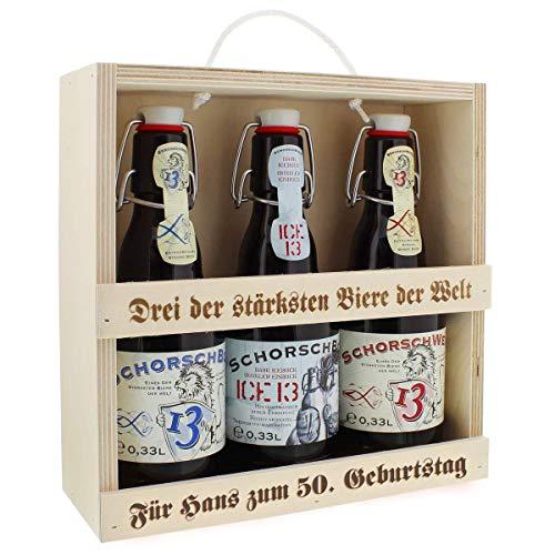 Bier-Set für starke Männer mit Ihrer individuellen Gravur - eine persönliche Geschenkidee
