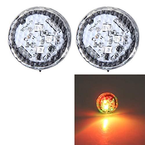 Auto plafondlamp, anti-botsingsblokkering, waarschuwingslamp, stroboscoop, geschikt voor auto (2 stuks) Kleur: zwart/bruin,