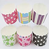 Home REPUBLIC-50Pcs Paper Cake Cup Cupcake Cases Liners Muffin Kitchen Baking Wedding Party Random Color