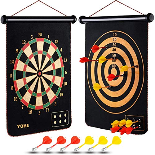 YOHE Gifts Toys for 2-12 Year Old Boys Girls, Darts Kid-Safe Indoor Magnetic Dart Board for Kids, Outdoor Toys,Educational Toys Age 2 3 4 5 6 7 8 9,Holiday Birthday Festival for Toddlers Age 2+
