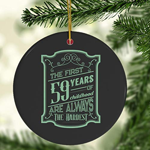 Pure's Designs Funny 59th Birthday Joke Gifts 59 Years Old Novelty Funny Gag Gift Idea Black Mug Ornament