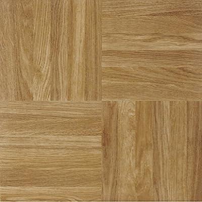 """Achim STSQP70220 Sterling Square Parquet Self Adhesive Floor Tile, 12"""" x 12"""""""