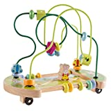 Hey! Play! Wooden Maze Toy with Interactive Beads, Puzzle Table Game & Activity Center, Educational Toy for Toddlers, Babies, & Kids (80-HJD93140C)