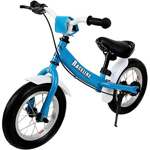 """Deuba Bicicletta Senza Pedali Bici per Bambini 12"""" Bici Equilibrio Altezza Regolabile con Freno Blu"""