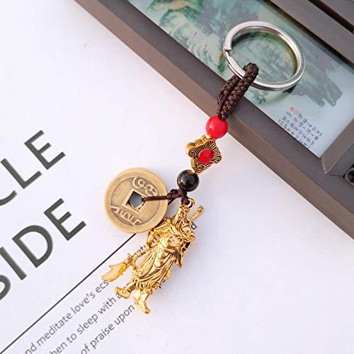 zeenca llavero de coche ,llavero de bolsillo inteligente regalo ( 2PCS) Guan Yu