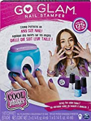 STYLE ANY SIZE NAIL: The GO GLAM Nail Stamper stamps patterns onto any size nail! It's fun and easy to create custom manicures in minutes with this nail kit. Just pop a pattern into the machine, paint your nails with the base coat and press to stamp!...