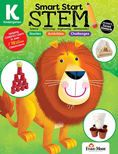 Evan-Moor Smart Start STEM Grade K Activity Book Hands-on STEM Activities for Critical Thinking...