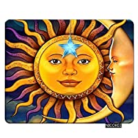 Nicokee Space Gaming Mousepad Sun Moon Stars Space Nebula 01 Mouse Pad Rectangle Mouse Mat for Computer Desk Laptop Office 9.5 X 7.9 Inch Non-Slip Rubber [並行輸入品]
