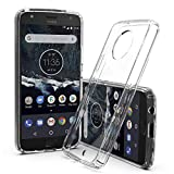 for Motorola Moto X4/Moto X (4th gen) Crystal Case, ZUERCONG HD Clear Ultra Hybrid PC+TPU [Four-Corner Protective] Anti-Scratch Shockproof Bumper Transparent Phone Cover Cases