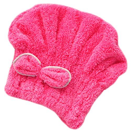 Pratique bonnet pour les filles/belle bonnet de douche, rose rouge bowknot