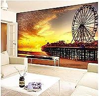 カスタマイズされた3D大きな壁画の壁紙リビングルームのベッドサイドダイニングルームの入り口の背景フェリスホイール200cmx140cm。