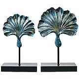 Manualidades Ginkgo Biloba decoración de la Resina Ilustraciones Dormitorio Creativo Moderno Minimalista Nuevo Ornamento de la casa Muebles Decoración (Color : Blue)