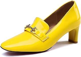 BalaMasa Womens APL11899 Pu Block Heels