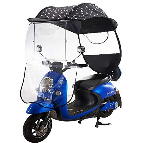 XJZKA Parasol eléctrico para Motocicleta, Parasol, Cubierta de Paraguas, batería, Techo para Coche, Motor, Bicicleta, Parasol, Parasol, Tienda, Paraguas, Parabrisas, D