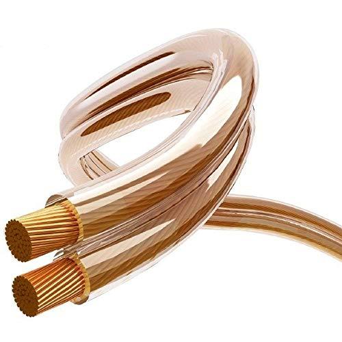 Maclean luidsprekerkabel zuurstofvrij koperen audio kabel luidspreker transparant volledig koper 20m - 2x3mm 16AWG